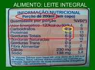 A concentração comum é muito usada na composição de alimentos líquidos como o leite.