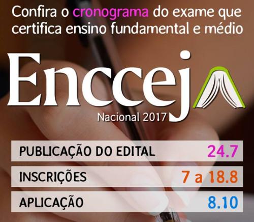 Inscrições para o Encceja 2017 começam no dia 7 de agosto