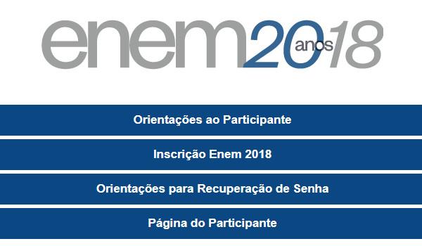 Inscrições para o Enem são feitas na Página do Participante