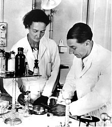 Irene Curie e seu marido, Frederic Joliot