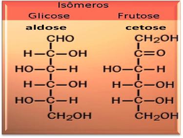 A glicose e a frutose são compostos isômeros.
