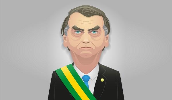 Jair Bolsonaro passou pela cerimônia de posse presidencial no dia 1º de janeiro de 2019, sucedendo o ex-presidente Michel Temer.*