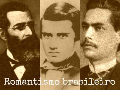 José de Alencar, Álvares de Azevedo e Castro Alves foram os principais representantes do Romantismo brasileiro