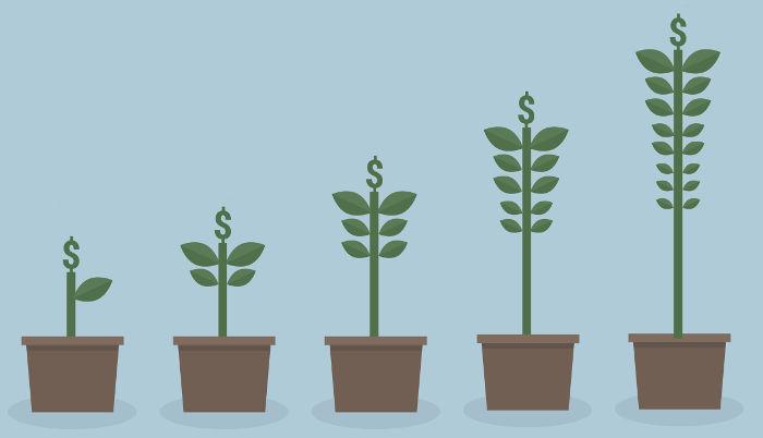 Juros compostos: crescimento não linear do montante