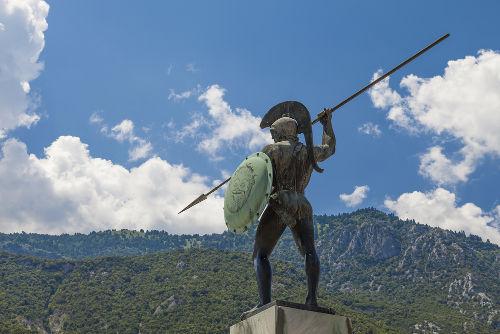 Leônidas, rei de Esparta, notabilizou-se por ter sido um dos principais guerreiros da Grécia Antiga
