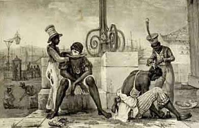 Litografia de Jean-Baptiste Debret (1768-1848), Barbeiros Ambulantes
