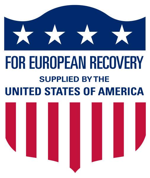 Logotipo do Plano Marshall criado pelos EUA para divulgar o programa