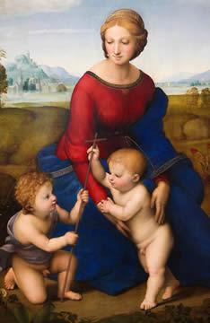 Madona no Prado, de Rafael Sanzio (1483-1520), um dos grandes expoentes das artes plásticas na Idade Moderna
