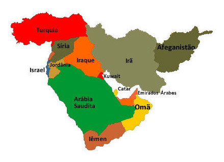 Resultado de imagem para mapa oriente medio