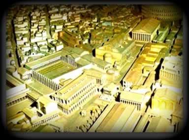 Maquete que representa a cidade de Roma na Antiguidade