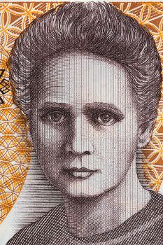 Marie Curie, uma das cientistas mais importantes do mundo, em imagem estampada em uma nota de zloty, moeda polonesa