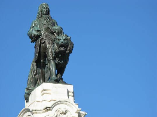 O Marquês de Pombal foi o grande administrador de Portugal de 1750 a 1777.