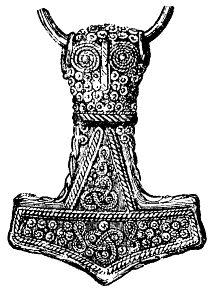 Martelo Mjolnir, símbolo do deus Thor *