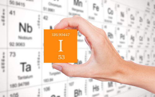 Massa atômica do elemento iodo na Tabela Periódica