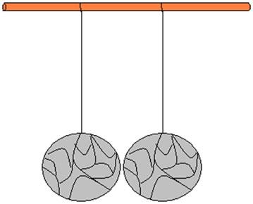 Bolinhas de isopor não eletrizadas
