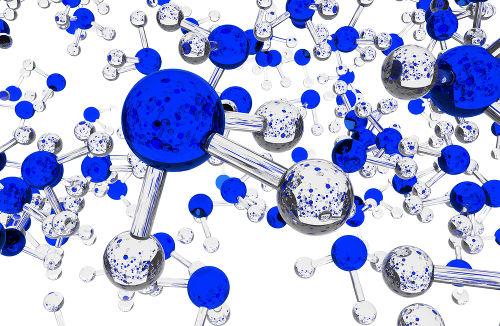 Moléculas de amônia interagem por forças intermoleculares do tipo ligações de hidrogênio