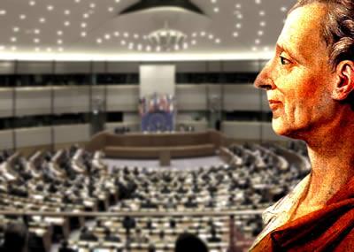 Montesquieu foi um dos principais filósofos responsáveis pela teoria dos Três Poderes.