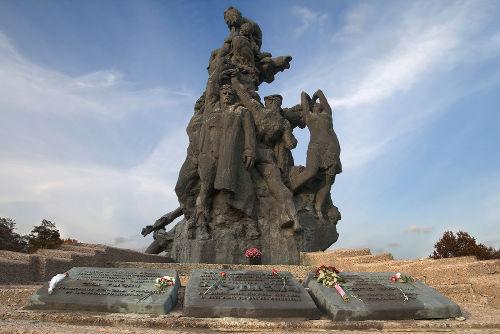 Monumento em homenagem às vítimas do Massacre de Babi Yar em Kiev, na Ucrânia