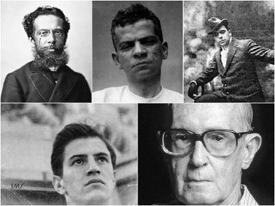 Na ordem, Machado de Assis, Lima Barreto, João do Rio, Paulo Mendes Campos e Carlos Drummond de Andrade