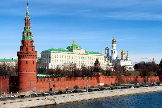 Nessa imagem do Kremlin, aparecem a Torre Vodovzvodnaya, o Grande Palácio e a Catedral da Anunciação