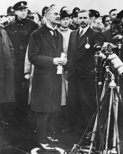 Neville Chamberlain, primeiro-ministro britânico, em discurso após a Conferência de Munique, em 1938