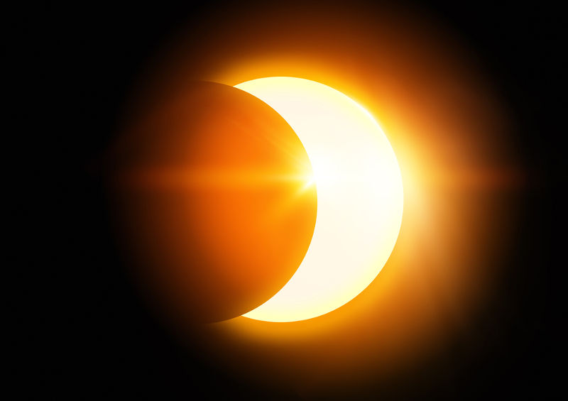 No eclipse solar, a Lua fica entre o Sol e a Terra; no lunar, a Lua entra na região de sombra da Terra