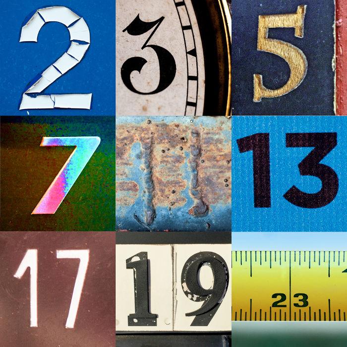 Números primos no intervalo de 2 a 23 usados para criar infinitos números compostos