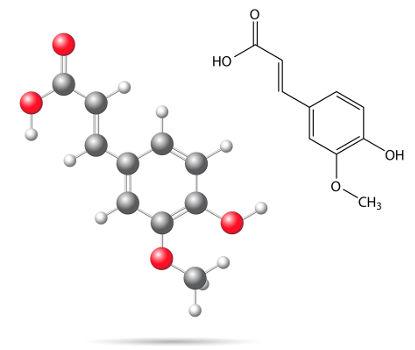 O ácido ferúlico, usado em alguns hidratantes, apresenta isomeria geométrica
