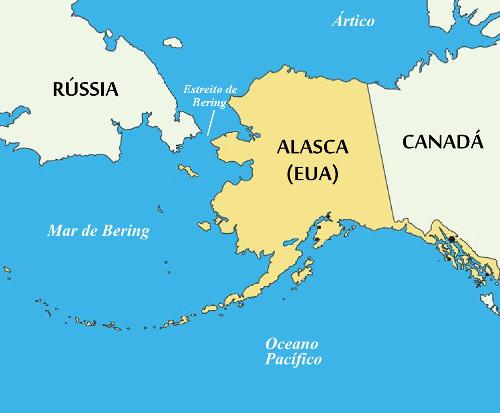 O Alasca é o maior estado dos Estados Unidos