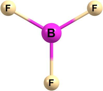 O boro é um dos exemplos de elementos químicos que sofrem o fenômeno da hibridização