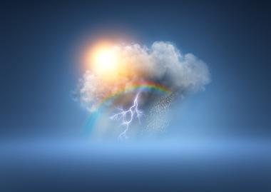 O clima representa o conjunto de elementos do tempo atmosférico