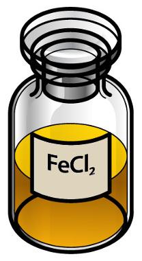 O cloreto de ferro II é um sal que apresenta íon-fórmula por ser originado por ligação iônica
