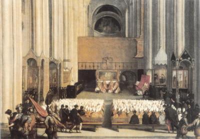 O Concílio de Trento organizou-se no século XVI e representou uma das facetas da Contrarreforma