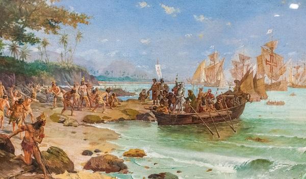 """O """"descobrimento"""" foi uma ação expansionista planejada pela Coroa Portuguesa."""