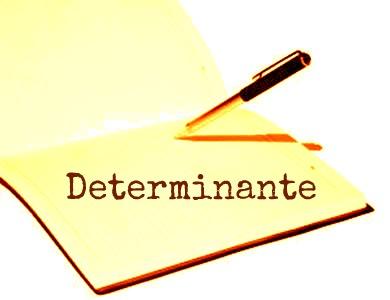 O determinante se caracteriza por aquele termo que acompanha o substantivo