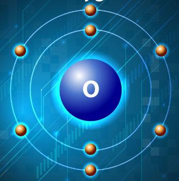 """O elemento químico Oxigênio apresenta duas camadas, sendo a camada """"L"""" a de valência"""