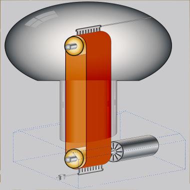 O gerador de Van de Graaff funciona com base na eletrização por atrito.