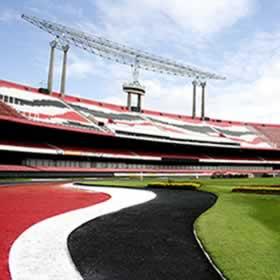 O gigantesco estádio: Cícero Pompeu de Toledo, popularmente chamado de Morumbi