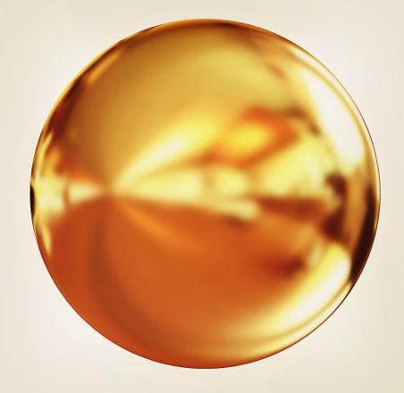 O metal ouro é constituído a partir de ligações metálicas