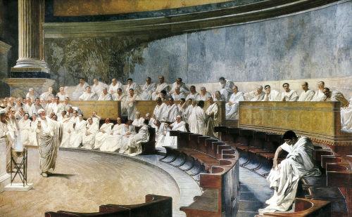 O senado é uma das instituições republicanas nascidas em Roma