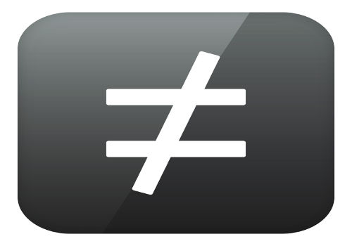 O sinal de diferente é um dos utilizados nas inequações para demonstrar desigualdade.