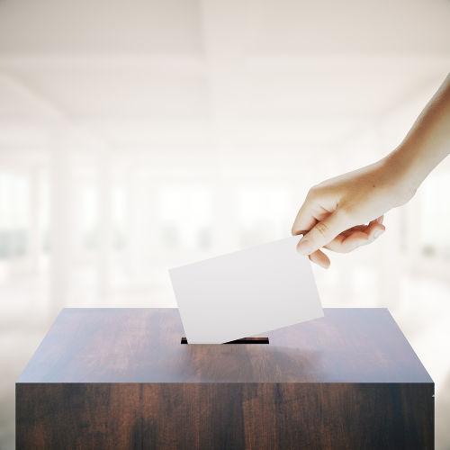 O sufrágio, ou voto, é um dos componentes fundamentais da democracia
