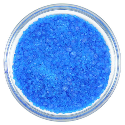 O  sulfato de cobre hidratado apresenta cor azulada