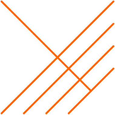 O teorema de Tales garante uma relação entre os segmentos de reta formados em um feixe de retas paralelas