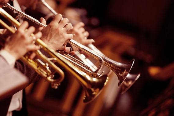O trompete é um exemplo de utilização de bronze na confecção de materiais