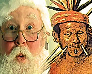 """O """"Vovô Índio"""" foi uma tentativa frustrada de substituição do tradicional """"Papai Noel""""."""