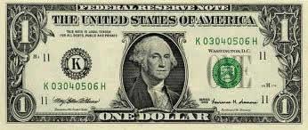 Nota americana de um dólar