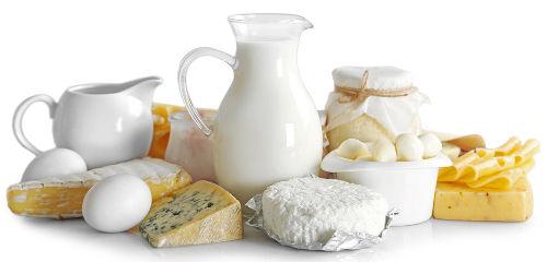 Os derivados do leite são uma boa fonte de lactose