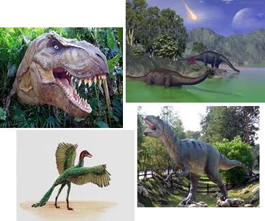 Os dinossauros dominaram a Terra durante a era Mesozoica