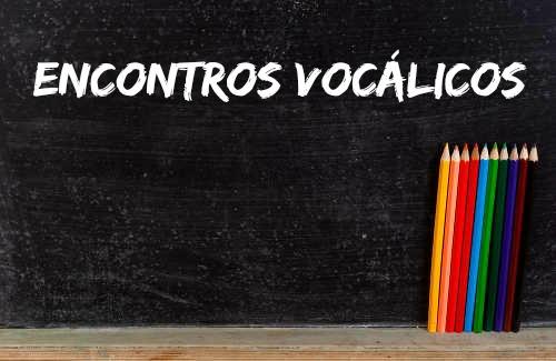 Os encontros vocálicos são agrupamentos de fonemas vocálicos